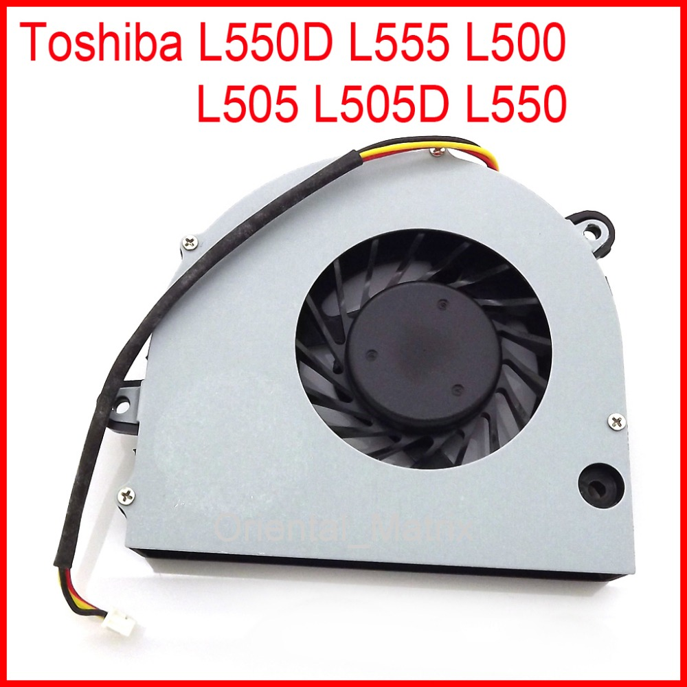 Free Shipping New AB7005MX-ED3 DC5V 0.25A Fan For Toshiba L550D L555 L500 L505 L505D L550 CPU Cooler Cooling Fan