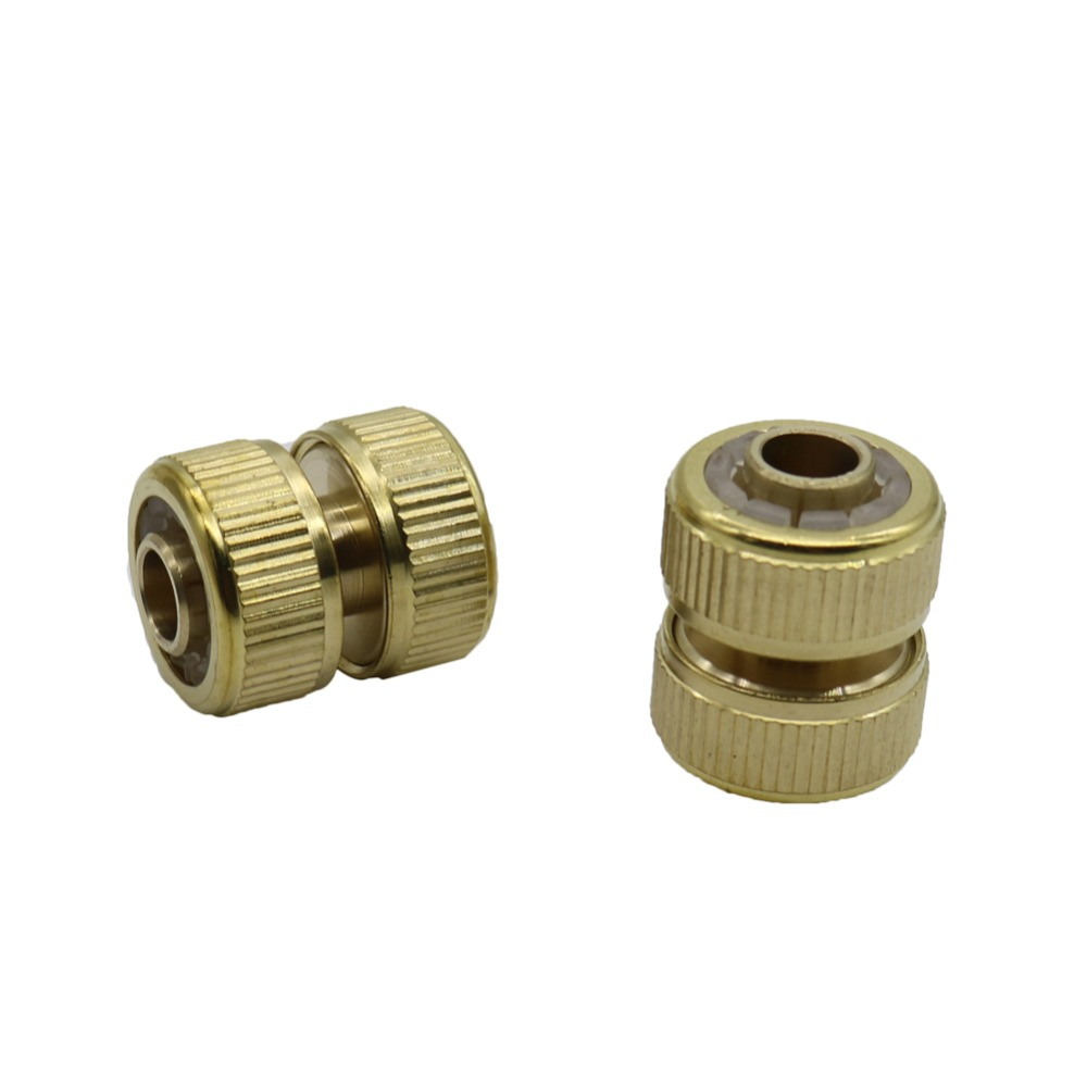 Brass Hose Extend Connector Pipe Repair Connectors Irrigation Plumbing Car Wash Water Pipe Fittings Hose Butt Joints 1 Pc