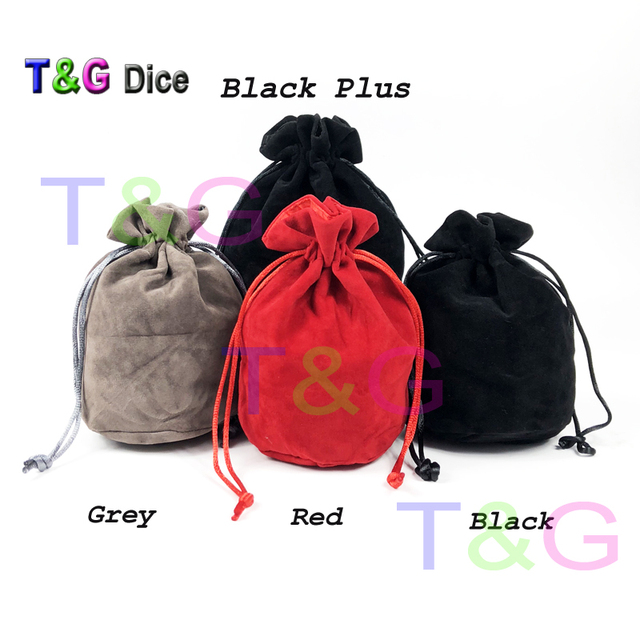 """TOP Quality Dice Jewelry Packing Velvet 6*5.5"""" Velvet Drawstring bags & Pouches for gift Board Game"""