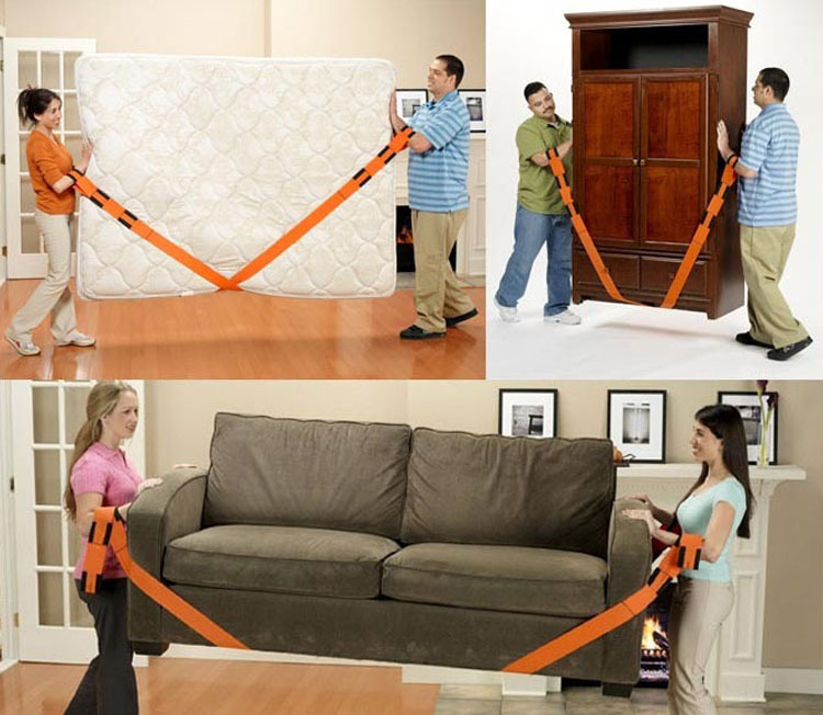 Furniture Moving Straps Orange Carry Lighter Lifting Strap Heavy Duty Nylon  Webbing Sling Lifting Tool CHL HAPPY MALL 15114 In Lifting Sling From Home  ...