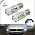 2pcs CANbus Error Free 1200 Lumens HID White 1156 7506 S25 SAMSUNG LED Bulbs for Volkswagen MK6 Jetta Daytime Running Lights
