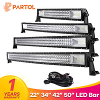 Partol 22 324W 32 486W 42 594W 50 702W CREE Chip Tri Row Curved LED Light