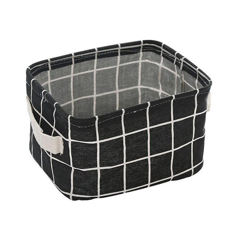 Desk Storage-Basket Underwear-Holder Box Table Organizer Container Fabric-Accessory Folable-Cloth