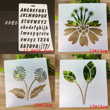4pcs Bullet Journal Stencils For Wall Painting Scrapbooking Stamping Stamp Album Decorative Letters Numbers Template Reusable