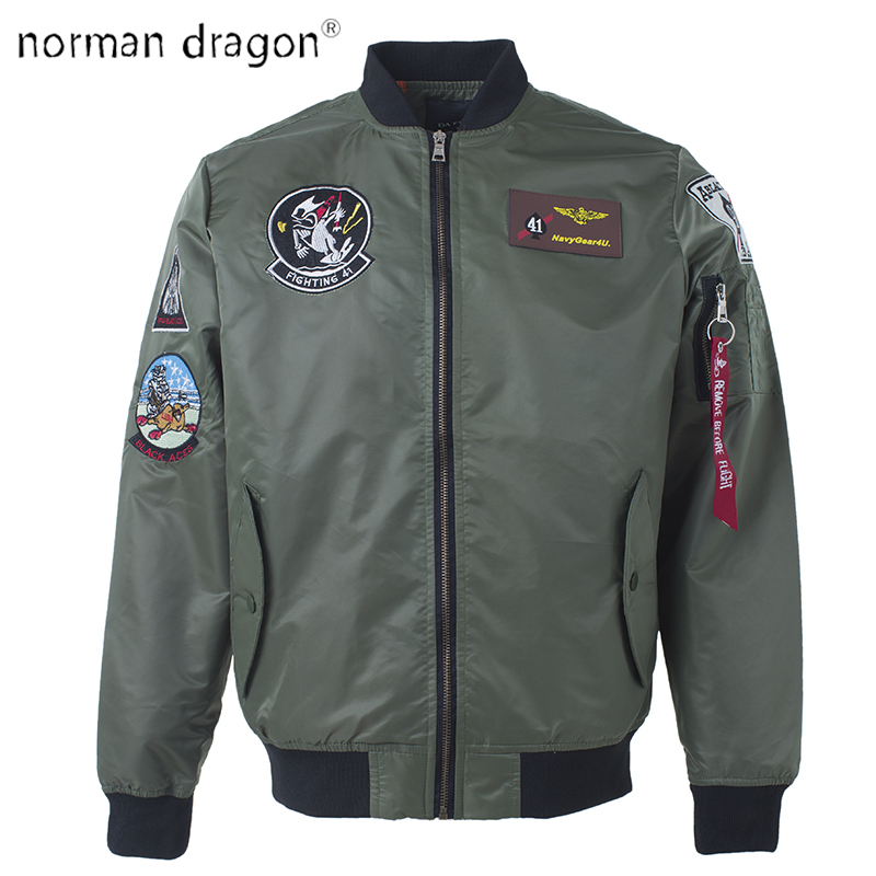 052f4b635 2018 top gun patch ma-1 tactical bomber jacket military embroidered Pilot  army varsity fly flight japanese letterman for men