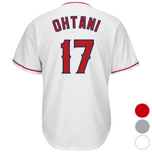 f25856cea Mens Los Angeles 17 Shohei Ohtani Baseball jersey (White Gray Red) Cool  Player Stitched