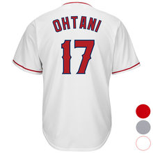 Mens Los Angeles 17 Shohei Ohtani Baseball jersey (White Gray Red) Cool Player Stitched Jersey Free Shipping(China)