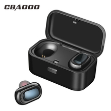 TWS Earphone Earbuds Twin Bluetooth Wireless Earpieces Sweatproof Stereo In-Ear Headset With Charging Box For Phone Tablet
