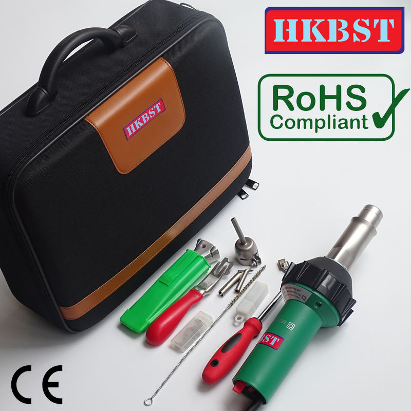 HKBST brand Plastic PVC Vinyl Flooring Hot Air Welding Kits Of 110V / 230V 1600W Heat Gun With Floor Weld Hand Tools цена