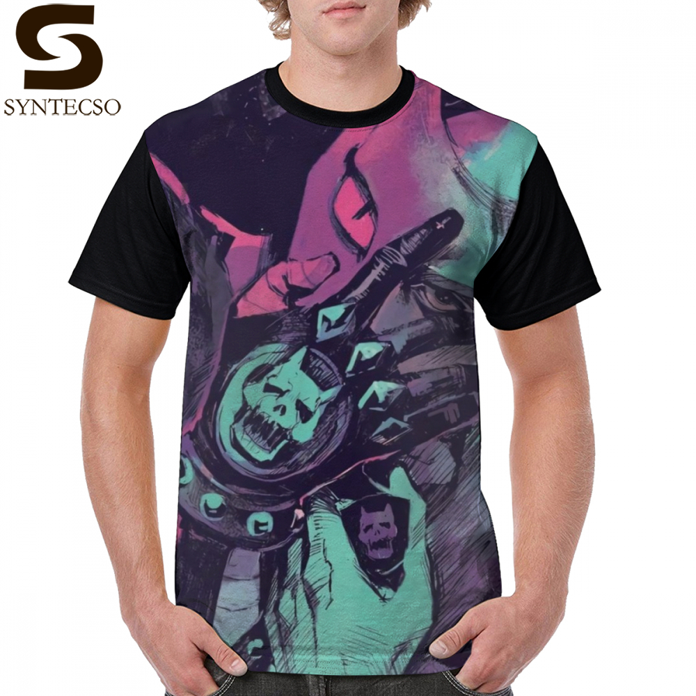 Jojo t camisa assassino rainha camiseta 100 poliéster clássico gráfico camiseta divertido mangas curtas plus size impresso camiseta masculina