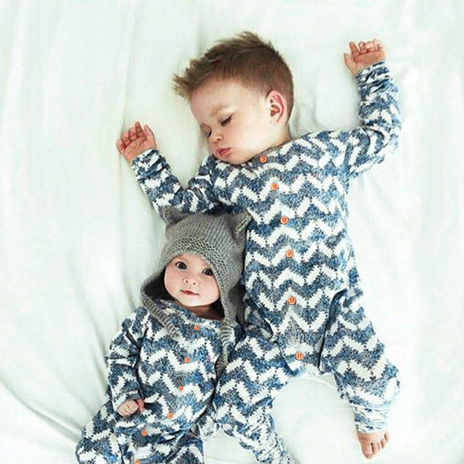 Baby Clothing Children pajamas long sleeve baby romper newborn underwear Knitted costume for boys girls autumn striped clothes puseky 2017 infant romper baby boys girls jumpsuit newborn bebe clothing hooded toddler baby clothes cute panda romper costumes