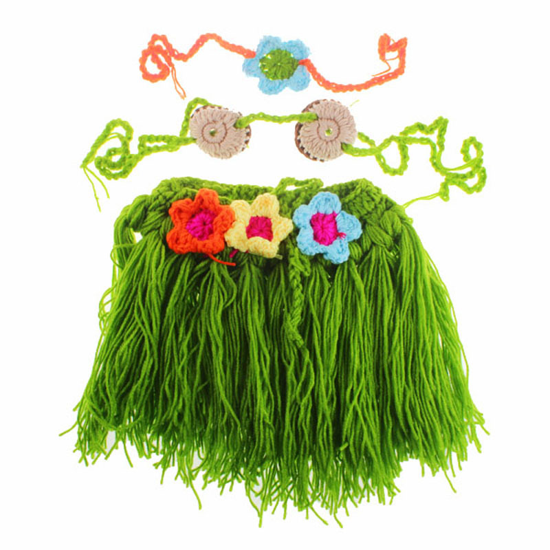 Baby Hawaiian Hula Dancer Grass Skirt Covered with Diaper ...