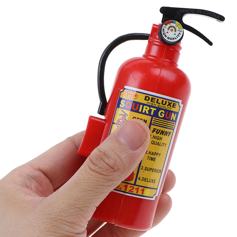 Simulation Fire Extinguisher Toy Plastic Water Gun Mini Spray Style Exercise Toys Kids Bathtub Beach Squirt Toy Pretend Play Toy