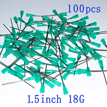 Blunt Tip Dispensing Needles With Luer Lock 18Gauge 1.5inch/38mm.Plastic Injection Needle.Syringe Needle 18Ga, 100pcs/bag