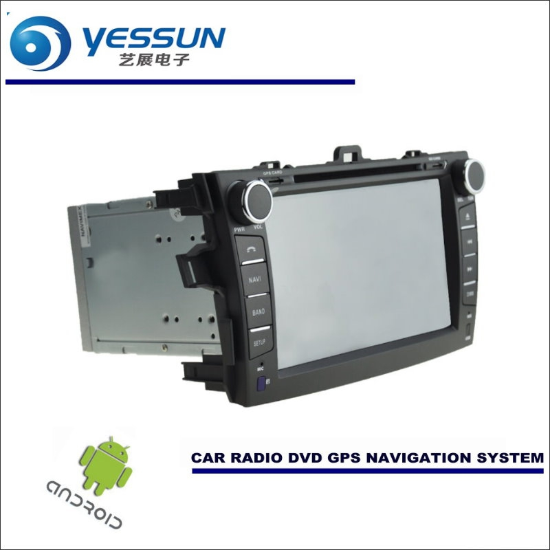 YESSUN Car Android Navigation System For <font><b>Toyota</b></font> <font><b>Corolla</b></font> Axio / E140 <font><b>E150</b></font> - Radio Stereo CD DVD Player GPS Navi Screen Multimedia image