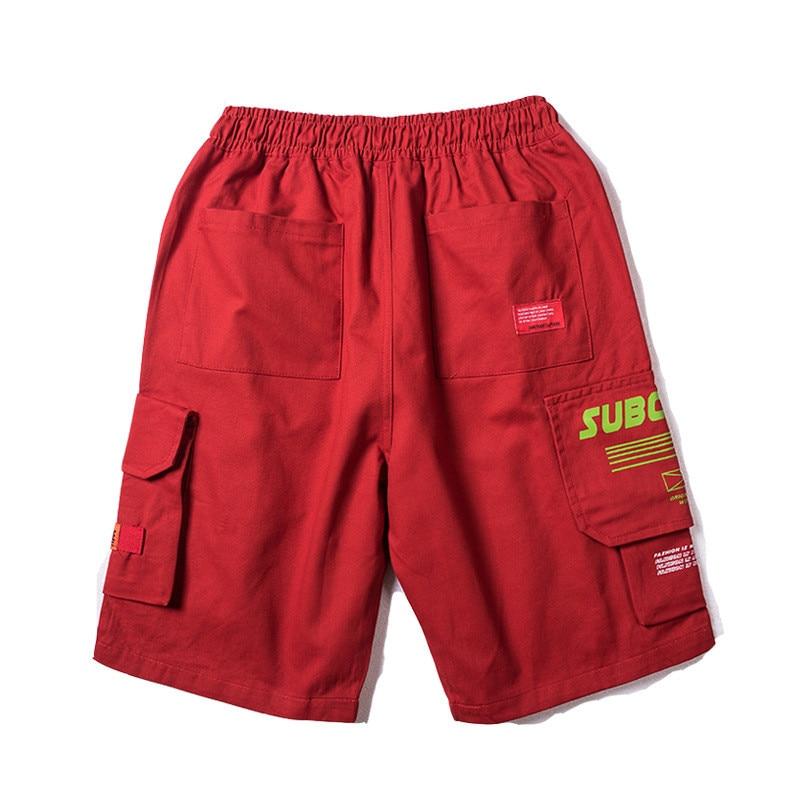 Japanese Harajuku Big Pockets Mens Cargo Shorts for Summer Urban Boys Streetwear Drawstring Hip Hop Short Pants Plus Size M-XXL 1