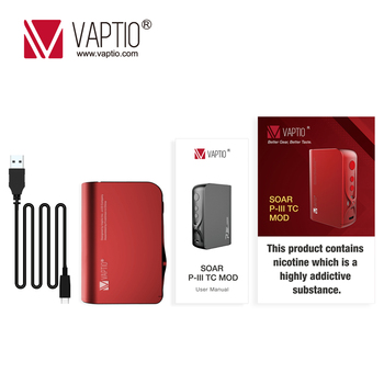 Vape Mod Vaptio P3 Mod Built-in 3000mAh Super High Capacity Battery With 30~100W Output Power Electronic Cigarette Vaporizer Kit electronic cigarette jsld 80w kit vape built in 2000mah battery box mod large smoke steam vape kit vs txw 80w vape e cigarette