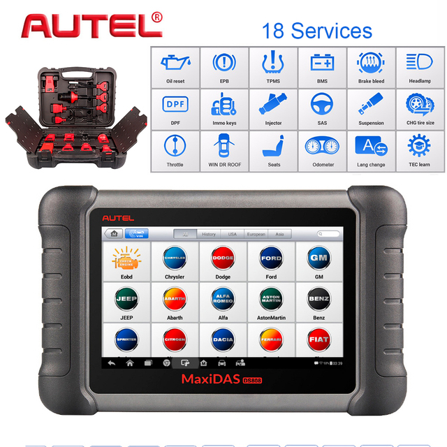 Best Offers Autel PRO Car Diagnostic Tool  Maxidas DS808K OBD Scanner Swift Diagnosis Functions of EPB//DPF/SAS/TMPS Same as MS906BT