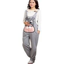 f560ca8bb Gestantes Mono Pantalones Largos de Maternidad Para Las Mujeres Embarazadas  Roupa Gestante Overoles Pantalones Otoño Invierno