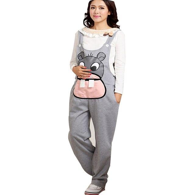 43dfc1c4c63 Gravidas Jumpsuit Maternity Pants Long Pregnancy Clothes For Pregnant Women  Overalls Roupa Gestante Trousers Autumn Winter
