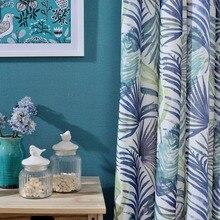 Natural Plants Printed Curtains