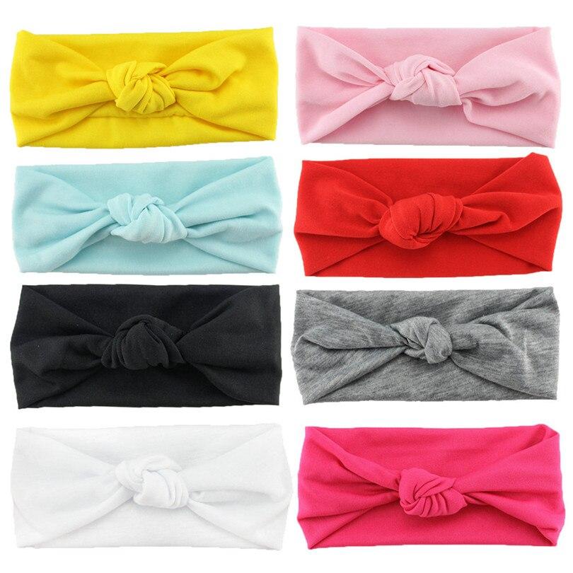 8 Colors New Born Newborn Girl Cotton Fabric Elastic Headband Head Bands   Headwear   Headwrap Headband Hair Accessories