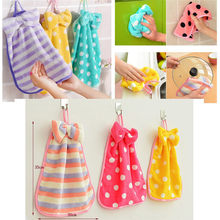 2018 Hot Sale Children Nursery Hand Towel Soft Plush Bow Animal Hanging Wipe Bathing Towel sep926 Extraordinary(China)