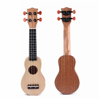 17 Inch Mahogany Body Ukuleles Spruce Solid Mini Travel Guitar Sealed Machine Head With Carry Bag Top Sale High Quality