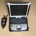 car diagnostic computer toughbook cf19 laptop 2G ram & rotate screen second hand works for mb star c3 c4 c5 for bmw icom A2