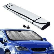 Автомобильный солнцезащитный козырек 140x70 см, автомобильный солнцезащитный козырек, лист, ветровое стекло, окно, выдвижной, летний, передний, задний, солнцезащитный козырек, шторка, ветровое стекло