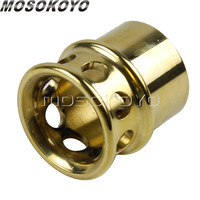 Motorcycle Inside 1 3/4 Exhaust Pipe Tip Cool Old School Brass 1.75 Pipe Plug for Bobber Chopper Cafe Racer Universal