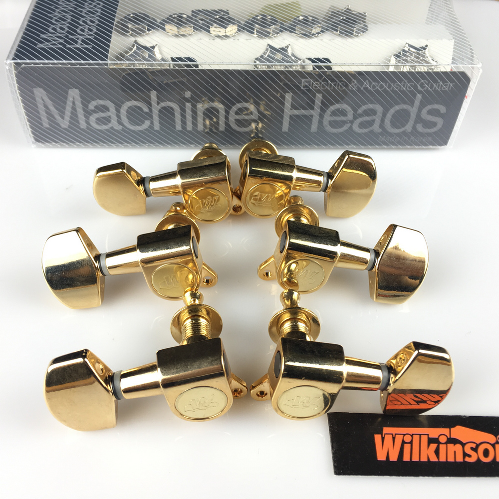 NEW wilkinson WJN-01 3R-3L 기타 머신 헤드 튜너 WLS 3 + 3 Gold Tuning Pegs (포장 포함)