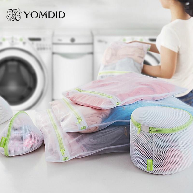 6pcs/lot Protecting Mesh Bag For Shirt Sock Underwear Washing Laundry Basket Durable Zippered Mesh Laundry Bag