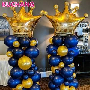 Image 4 - 1 adet büyük elmas taç folyo helyum balonları altın siyah pembe mavi Globos bebek duş prenses kız doğum günü partisi dekor malzemeleri