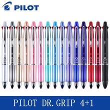 파일럿 Dr.Grip 4 + 1 (4 볼펜 0.7mm 검정, 파랑, 녹색, 빨강 + 1 기계식 연필 0.5mm) BKHDF 1SR 필기구