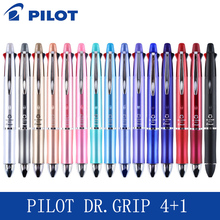 Pilot Dr.Grip 4+1 (4 Ballpoint pen 0.7mm Black, Blue, Green,