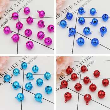 50pcs Jingle Bells Pet Dog Pendants Christmas Tree Ornaments Navidad Decoration for Home New Year 2020 DIY Crafts Accessories image