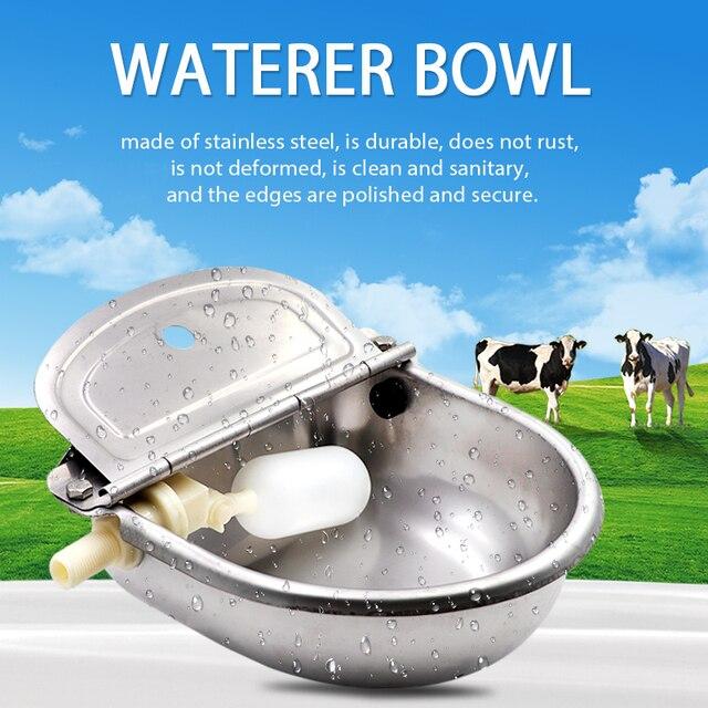 Livestock Cattle Horse Drinker Bowl Automatic Waterer Float Outlet For Cattle Dog  Sheep Pig Feeder Farm Animal Livetock