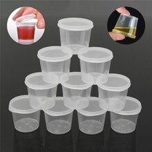 30 Stks/set 25 Ml Wegwerp Plastic Takeaway Saus Cup Containers Voedsel Doos Met Scharnierende Deksels Pigment Verf Box Palet Herbruikbare