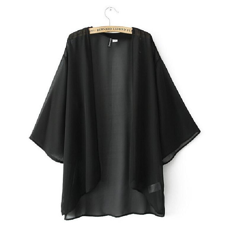 Poncho Summer Sheer Blouses Kimono Women 2015 Sun ...