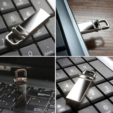 Metal Waterproof USB Flash Drive Pen Drive 128gb 64gb 32gb 16gb 8gb Pendrive Real Capacity USB Stick with Key Ring free shipping(China)