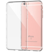 Newest Fashion slim Crystal 0.3mm Ultra Thin Clear Transparent Soft TPU Case for iphone 6  6S /6 Plus 6s Plus/7 back cover