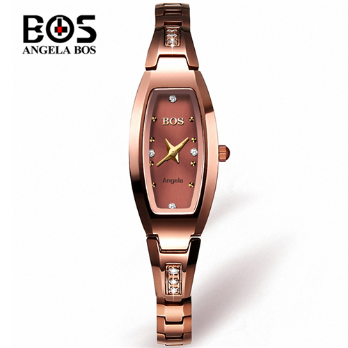 Watch Womens Angela Bos Clock Quartz Luxury Bracelet Waterproof Gold Top-Brand Saat Feminino