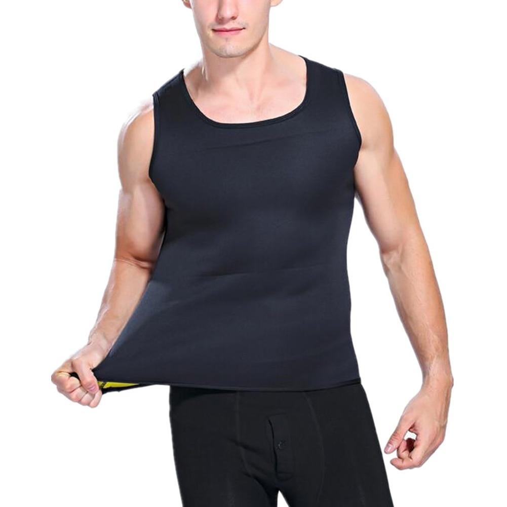 Men Sweat Vest Neoprene Body Shaper Corset Shapewear for Slimming Waist Trainer font b Weight b