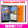 "Nokia Lumia 535 Quad Core Dual SIM Original Cell Phone Qualcomm 5.0"" Touch Screen 5MP Camera WCDMA 3G Window Phone Refurbished"