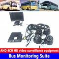 4-канальный sd-карта 960P местный видео мониторинг хост-автобус мониторинга комплект комбайн/санитарно-транспортное средство/пожарная машина/...