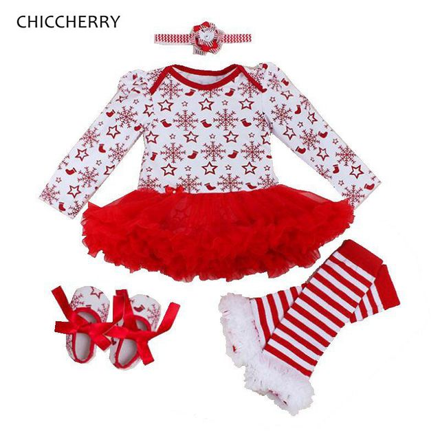 93546c7bf Snow Star Baby Christmas Costumes for Kids Lace Romper Dress ...