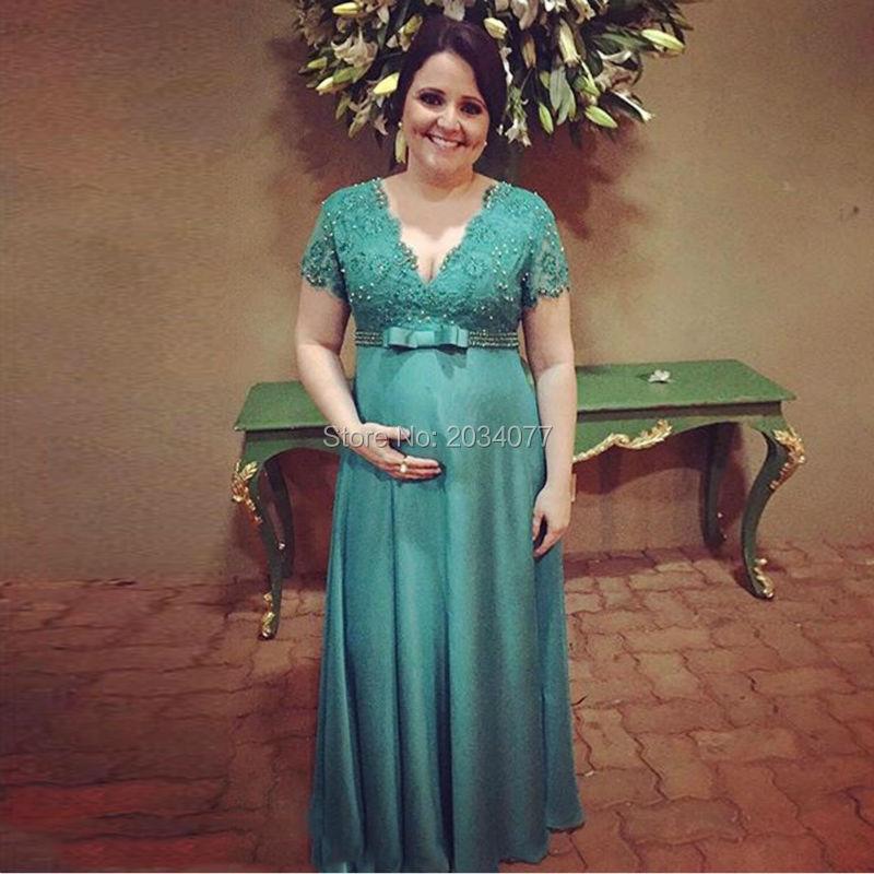Abiti in pizzo donna eleganti della madre Green Mother Of The Bride ...