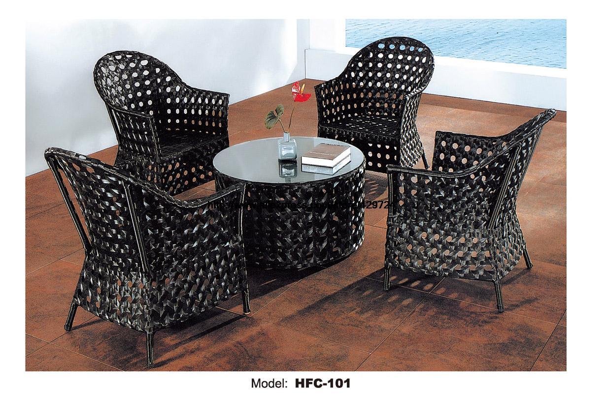 rota del pe muebles de lujo de alta calidad negro de mimbre al aire libre muebles