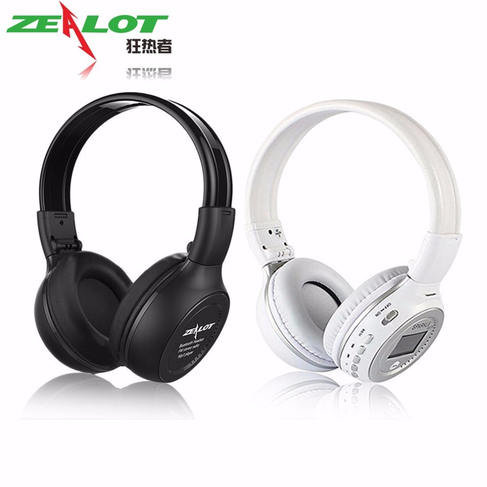 Original ZEALOT B570 Foldable HiFi Stereo Wireless Bluetooth Headphone With LCD Screen FM Radio Mic Support TF Card zealot b570 headset lcd foldable on ear wireless stereo bluetooth v4 0 headphones with fm radio tf card mp3 for smart phone